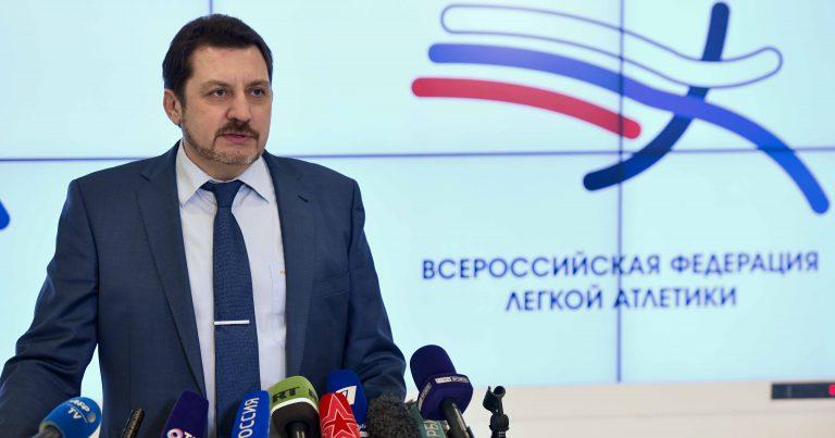 Пресс-подход президента ВФЛА Евгения Юрченко